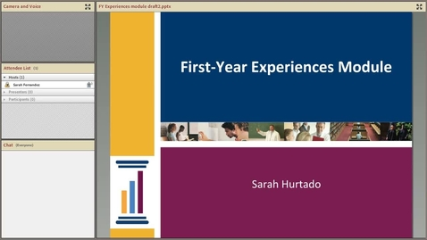 Thumbnail for entry New First-Year Experiences Topical Module