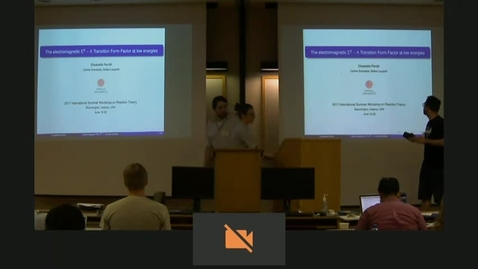 Thumbnail for entry 06/14/2017 Student Seminar : The electromagnetic Sigma-to-Lambda Transition Form Factor at low energies - E. Perotti - Clipped by Vincent Mathieu