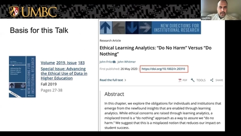 Thumbnail for entry Ethical Learning Analytics: Do no Harm vs. Do Nothing