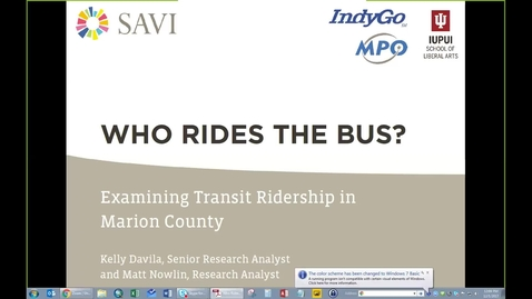 Thumbnail for entry Who Rides the Bus: Examining Transit Ridership in Marion County - Clipped by fsphphpc Public Health Practice Center