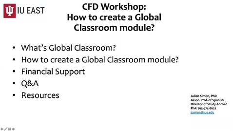 Thumbnail for entry Global Classroom Presentation