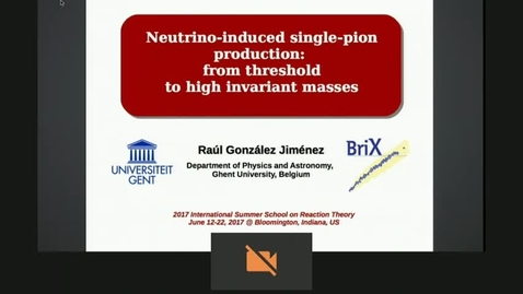 Thumbnail for entry Neutrino-induced Single Pion Production by Raoul Gonzalez-Jimenez