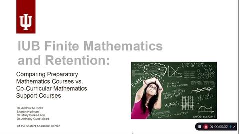 Thumbnail for entry 7-IUB Finite Mathematics and Retention