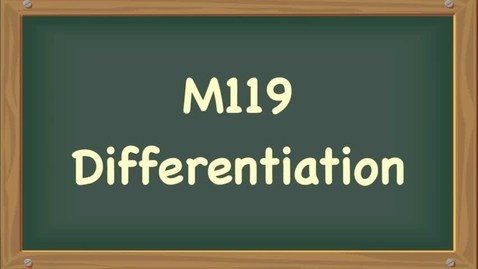 Thumbnail for entry differentiation