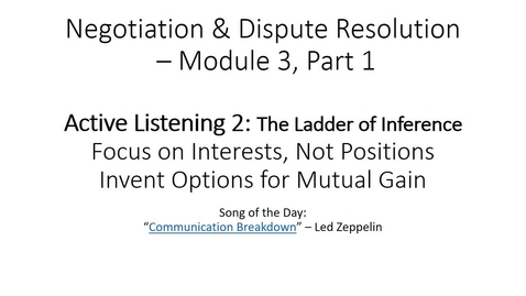 Thumbnail for entry P300 – Online Module 3.1 - Active Listening 2 - Ladder of Inference - with voice over