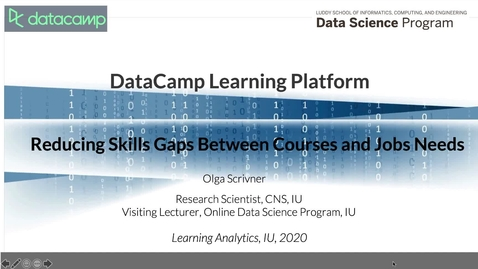 Thumbnail for entry 11-DataCamp learning platform: reducing skills gaps between courses and job market