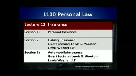 Thumbnail for entry L100 12-3 Automobile Insurance