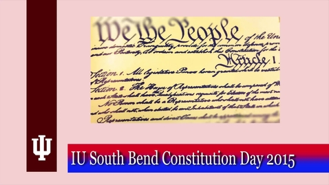 Thumbnail for entry Constitution Day event, Fall 2015