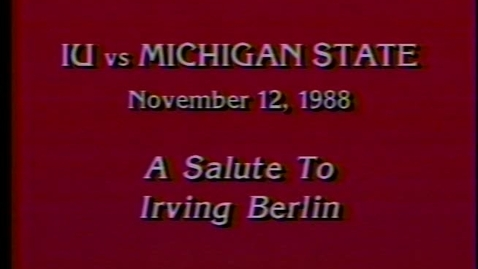 Thumbnail for entry 1988-11-12 vs Michigan State - Halftime