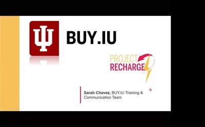 Meet BUY IU - IU's New Purchasing System - Indiana University