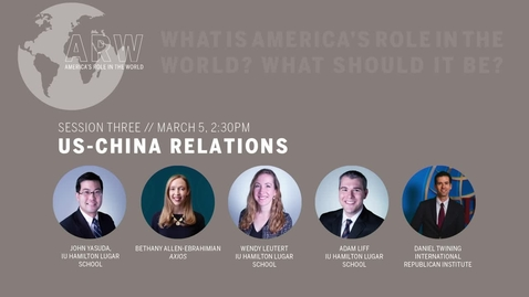 Thumbnail for entry ARW 2020 - Session 3: US-China Relations
