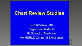Thumbnail for entry Chart Review, Kurt Kroenke, MD