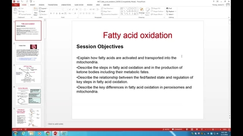 Thumbnail for entry WL - MCT - 161103 - Forney - Fatty Acid Oxidation