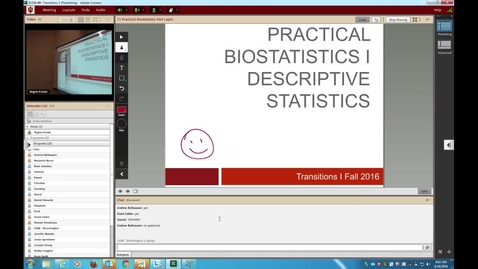 Thumbnail for entry WL | Transitions I Prac Biostats I 160816 Kreisle