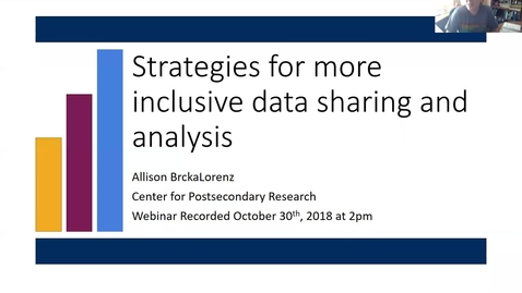 Thumbnail for entry Strategies for More Inclusive Data Sharing and Analysis