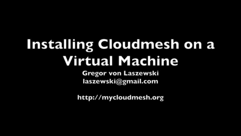 Thumbnail for entry 05 Cloudmesh Setup on a OpenStack VM