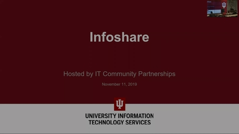 Thumbnail for entry 2019.11.11 INFOSHARE - IU Login