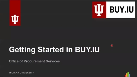 Thumbnail for entry Getting Started in BUY.IU