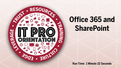 Thumbnail for entry Office 365 and SharePoint