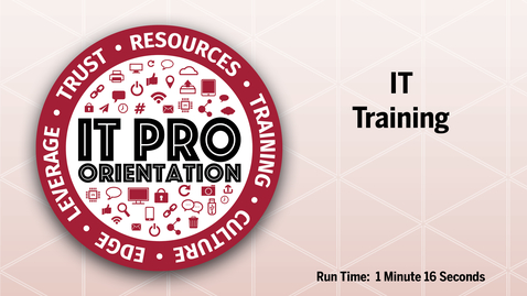 Thumbnail for entry IT Training