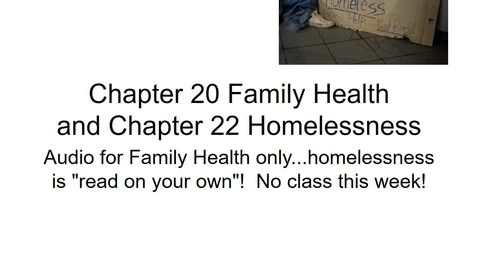 Thumbnail for entry Chapter_020 Family Health and Chapter 22 Homelessness (5)with audio m