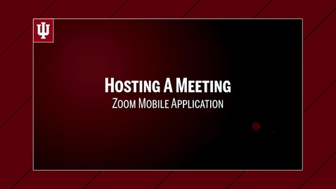 Thumbnail for entry Zoom: Hosting a Meeting from the Mobile App