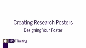 Thumbnail for entry Creating Research Posters: Designing Your Poster