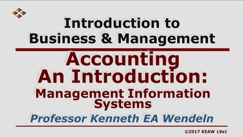 Thumbnail for entry X100 09-1 Management Information Systems