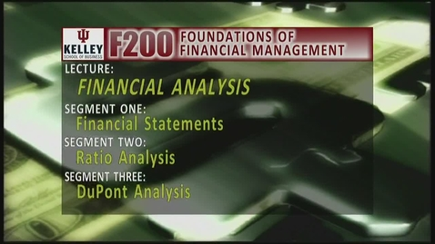 Thumbnail for entry F200_Lecture 02_Segment 1: Financial Statements