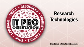 Thumbnail for entry Research Technologies