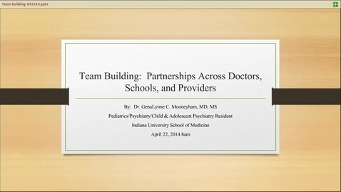 Thumbnail for entry Team Building: Partnerships Across Doctors, Schools, and Providers