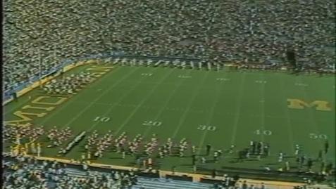 Thumbnail for entry 1982-10-02 at Michigan - Pregame
