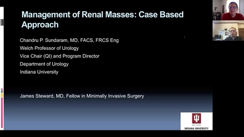Thumbnail for entry 4.3.20- Renal Masses with Dr. Sundaram