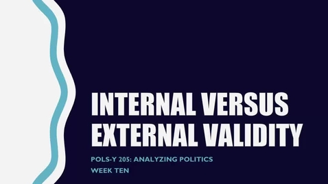 Thumbnail for entry Internal versus External Validity
