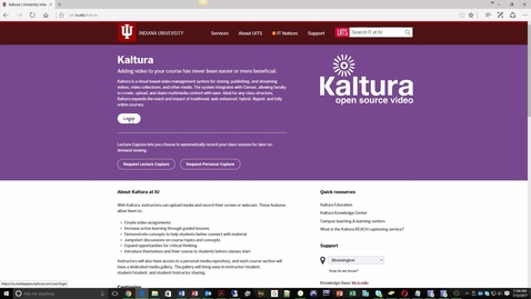 Thumbnail for entry Kaltura - First Login