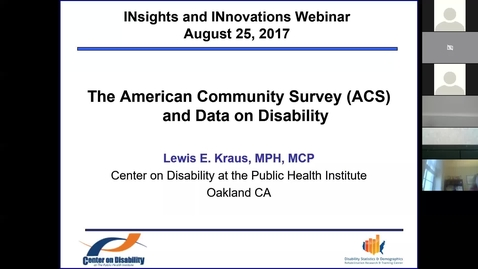 Thumbnail for entry August Insights and Innovations: The American Community Survey (ACS) and Data on Disability