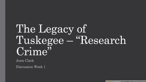 Thumbnail for entry Tuskegee Experiment--Josie Clark
