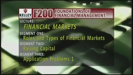 Thumbnail for entry F200 03-1 Roles and Types of Financial Markets