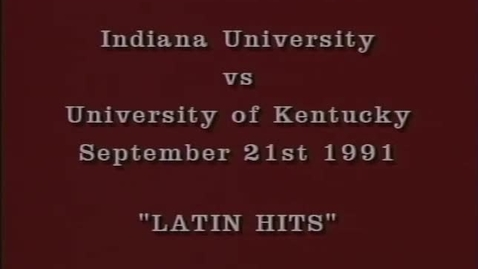 Thumbnail for entry 1991-09-21 vs Kentucky - Halftime
