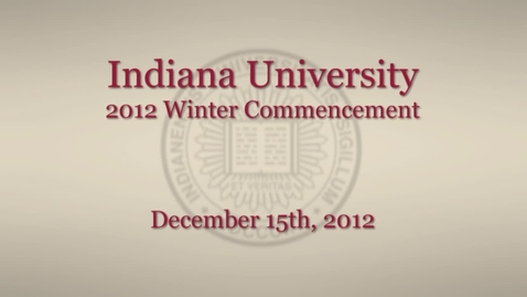 Thumbnail for entry 2012 Winter Commencement
