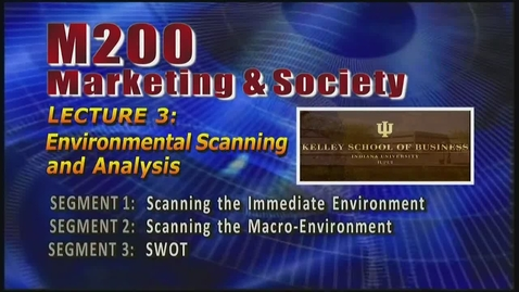 Thumbnail for entry M200 03-1 Scanning the Immediate Environment