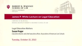 Thumbnail for entry Susan Prager (2013 Oct. 15), Legal Education Matters