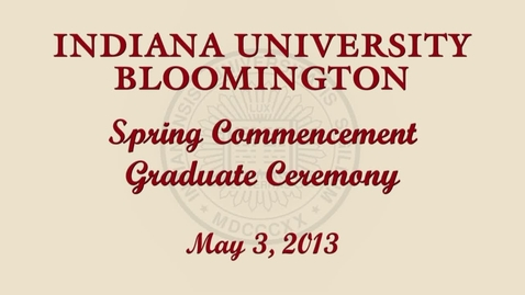Thumbnail for entry 2013 Commencement for Masters and Doctoral Graduates
