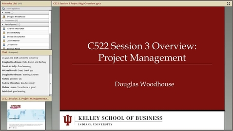 Thumbnail for entry dwoodhou MP4s_C522 Woodhouse_C522 Woodhouse Session 3 Project Mgt Overview
