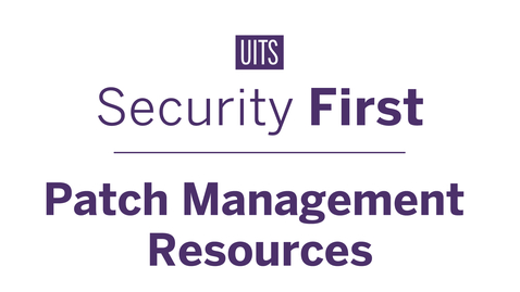 Thumbnail for entry Patch Management Resources