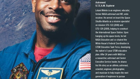 Thumbnail for entry Keynote, Leland Melvin, Chasing Space: The Right Stuff Is the Never Give Up Stuff