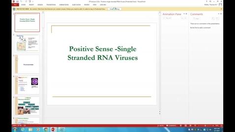 Thumbnail for entry WL - HD - 170307 - Mohammed - RNA Viruses