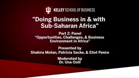 """Thumbnail for entry CIBER Doing Business Conference: Africa - """"Opportunities, Challenges, and Business Environment in Africa"""""""