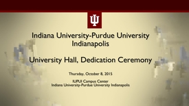 Thumbnail for entry Dedication Ceremony for University Hall