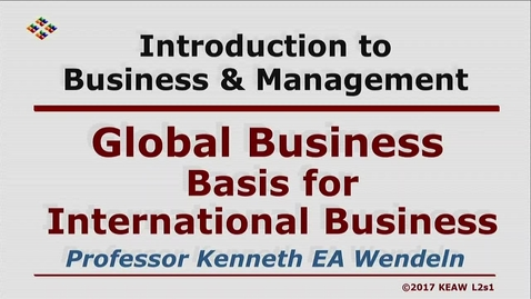 Thumbnail for entry X100 02-1 Basis of International Business